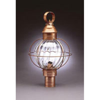 Northeast Lantern Onion 1 Light Post in Antique Copper 2843-AC-MED-OPT
